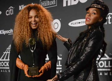 Janelle Monáe Inducts Janet Jackson Into Rock And Roll Hall Of Fame During Ceremony At Brooklyn's Barclays Center