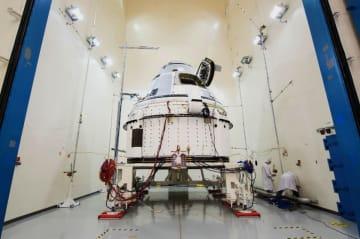 ボーイングが開発中の宇宙船「スターライナー」(同社提供・共同)