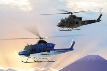 スバル BELL 412EPXと陸上自衛隊新多用途ヘリコプター Rotorcraft Asia 2019出展