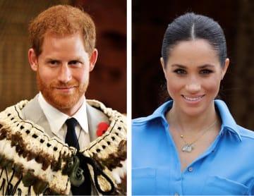 英王室のヘンリー王子、メーガン妃(ともにロイター=共同)