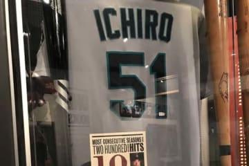 米野球殿堂には引退を表明したマリナーズ・イチローのユニフォーム等が展示されている【写真提供:米野球殿堂】