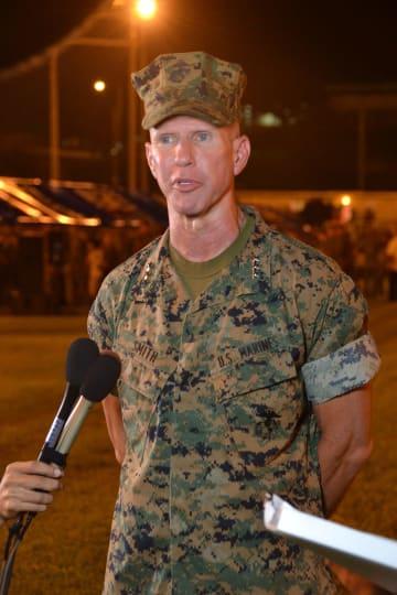 沖縄の米軍トップ、エリック・スミス中将