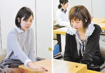 3度目の会津入りを決めた鈴木七段(左)と謝六段