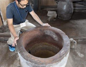 旧高月邸に残る轟泉水道の井戸。熊本地震で被災し、修復された=宇土市