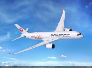 JALの「A350-900型」初号機イメージ。(画像: JALの発表資料より)