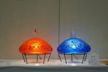 4月7日まで開催中の沖展で展示されているガラス・比嘉裕一作「たらとろりん」