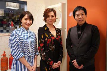 5日に放送される紀行バラエティー番組「アナザースカイII」に出演する(左から)広瀬アリスさん、米倉涼子さん、今田耕司さん=日本テレビ提供