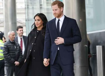 Very Pregnant Meghan Markle & Prince Harry Visit New Zealand House In London To Pay Condolences