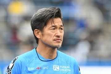 3月23日のFC岐阜戦に出場した三浦知良 photo/Getty Images