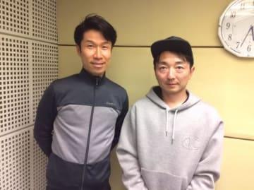 栗村修さんと、野島(右)