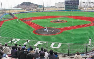 リニューアルされた利府町中央公園野球場