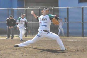 BCリーグ開幕戦で158キロを記録した栃木・北方悠誠【写真:小西亮】