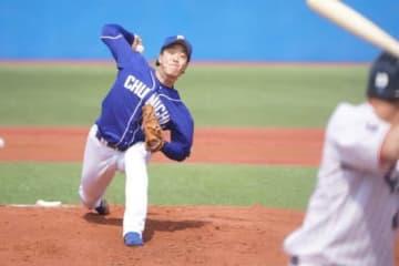 今季初勝利を挙げた中日・柳裕也【写真:荒川祐史】