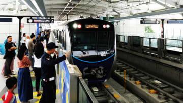 MRTジャカルタは、5月から運転間隔を5分に短縮する=ジャカルタ(NNA撮影)