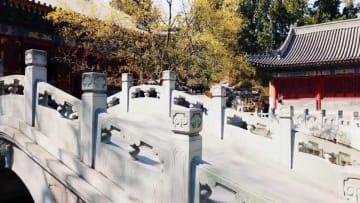 百花繚乱、香山公園を彩る春色 北京市