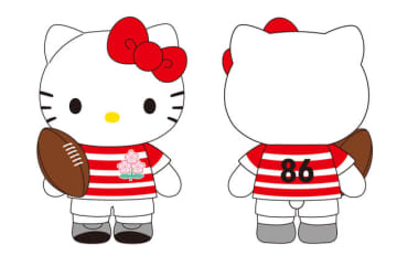 ラグビー日本代表、ハローキティ&ゲゲゲの鬼太郎とのコラボアイテム発売