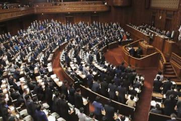 子ども・子育て支援法改正案を賛成多数で可決した衆院本会議=9日午後
