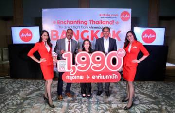 エアアジアは5月31日にバンコク—アーメダバード便の運航を開始する(同社提供)