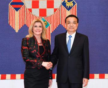 李克強総理、クロアチア大統領と会見 「一帯一路」と「三海協力」の連携強調