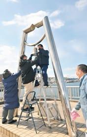 室蘭ライオンズクラブメンバーが補修し輝きが戻った幸福の鐘