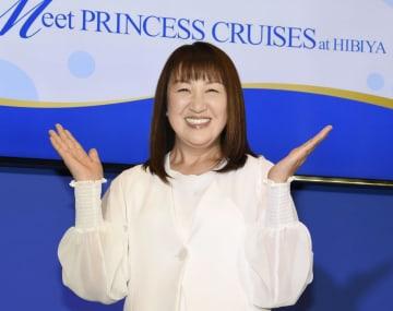 「プリンセス・クルーズ」のイベントに登場した北斗晶=12日、東京都内