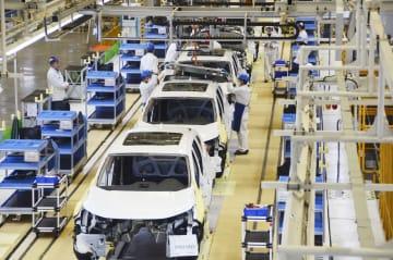 中国湖北省武漢市に完成したホンダの新工場=12日(共同)