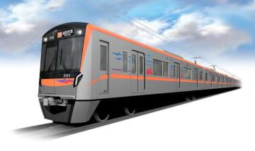 京成電鉄が成田スカイアクセス線で導入する新型車両「3100形」のイメージ(同社提供)