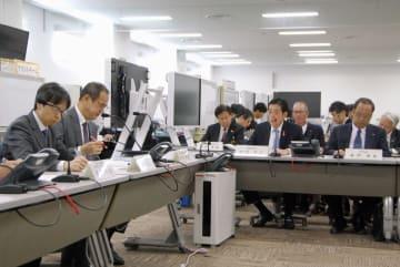 原子力規制委員会が四国電力伊方原発の周辺自治体を対象に開いた意見交換会=13日、愛媛県西予市