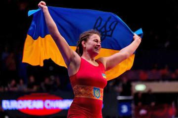 ウクライナ女子4個目の金メダルを獲得したアリナ・スタドニク=提供・UWW