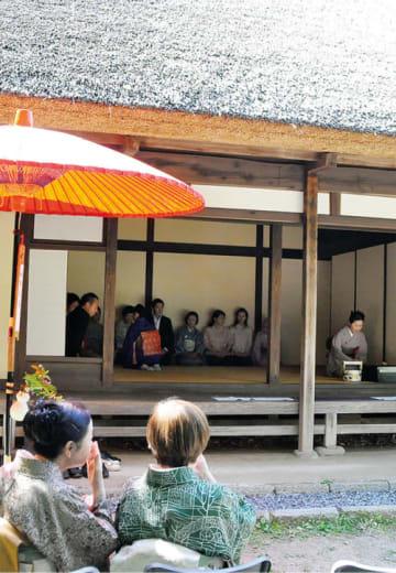 「第13回新緑の薬師池を楽しむ茶会」野点やお茶をたてる体験コーナーも