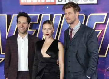 Chris Hemsworth, Scarlett Johansson & Paul Rudd Attend London Screening Of 'Avengers: Endgame'