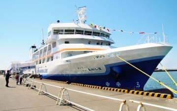 19日に就航する粟島汽船の新造船「フェリーニューあわしま」
