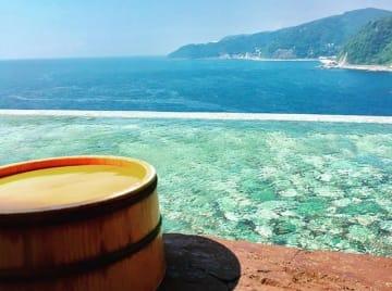 "Photo by:akazawaonsenkyo2018The ""infinity bath"" at Akazawa Onsen puts you right at the ocean!"