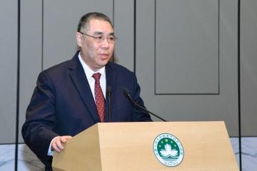 マカオ特別行政区の崔世安行政長官(資料)=2019年4月15日(写真:GCS)