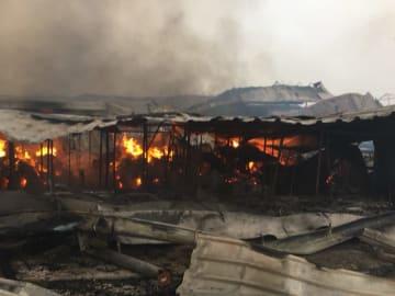 ボスニア·ヘルツェゴビナの卸売市場で火災 中国人店舗など焼失