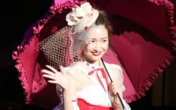 女性ファッション誌「sweet」の創刊20周年イベント「sweet collection 2019」に登場した紗栄子さん