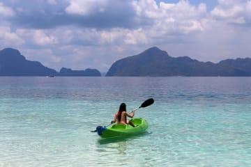 紺碧の海と空 フィリピン·パラワン州