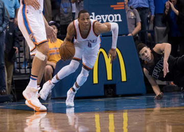 Russell Westbrook Scores 30 in Thunder's 105-103 Win vs Rockets