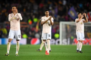 バルセロナに敗れCL準々決勝敗退となったマンU photo/Getty Images