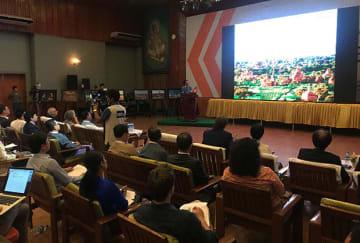 6月末からのユネスコ世界遺産委員会開催に向け、ミャンマー側がバガンの登録実現に向けて支援国の関係者に後押しを呼び掛けた会議=12日、ヤンゴン(NNA)