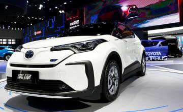 トヨタの量産EV、上海国際モーターショーで世界初公開