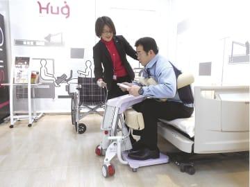 介護ロボットに力を入れている(写真は「HugL1」)