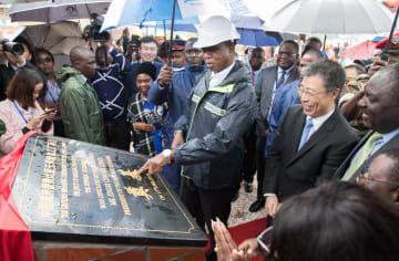 ザンビアのトウモロコシ粉工場着工 中国が援助