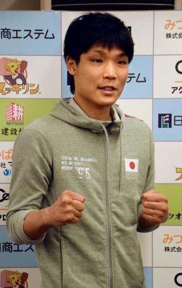 2階級制覇を懸けてWBA世界フェザー級タイトルマッチに挑戦する久保隼(神戸市)