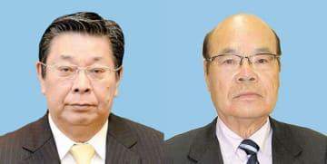 行田市長選、工藤正司氏(左)と石井直彦氏
