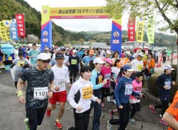 2018年の津山加茂郷フルマラソン=4月15日