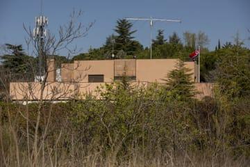 スペインのマドリードにある北朝鮮大使館=3月27日(ゲッティ=共同)