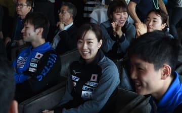 日本卓球チーム、組み合わせ抽選会に臨む 世界卓球