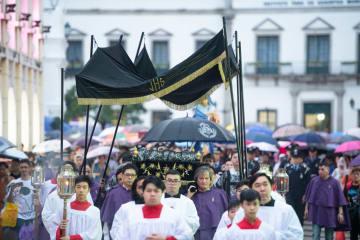 マカオでキリストの聖体行列