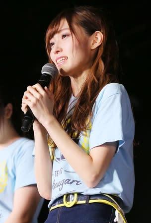 NGT48からの卒業を発表する山口真帆さん=21日、新潟市中央区(AKS提供)